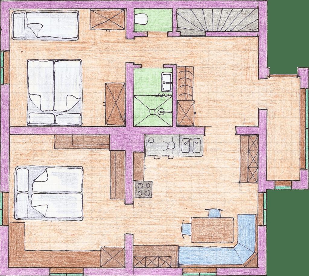 Ansicht Appartement unten